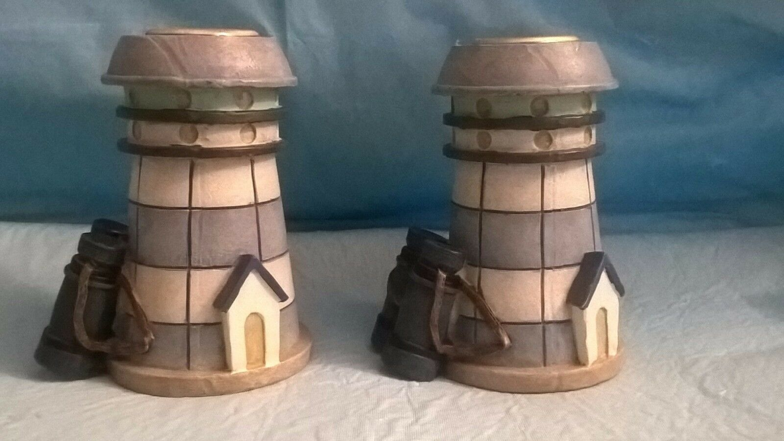 Primary image for Two Mini  3 1/2 Inches Lighthouse Candle Holders