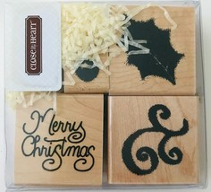 Holly Christmas 4 Rubber Stamps Merry Berry Close To My Heart S221 New NRFB - $8.79