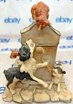 "Lowell Davis ""Treed"" Figurine  1981 Schmid 01/1250 Dogs Cat Pump 225327 - $123.73"