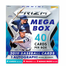 2019 Panini Prizm Baseball Mega Box- New Opti-Chromes |Autos, Rookies, and - $56.22