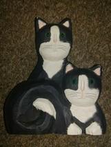 "8"" TALL Artist Signed JAMES HADDON Hand Carved Black Cat Feline Animal F... - $25.10"