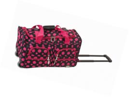Luggage Rolling 22 Inch Duffle Travel Bag Wheels Handle Zipper Pockets S... - $474,82 MXN