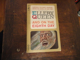 BOOK Ellery Queen 'And On the Eighth Day' Pocket pulp paperback mystery ... - $4.79