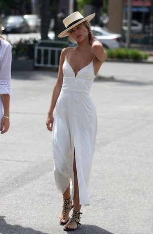 sexy long prom dress with high slit v-neck sleeveless party evening dress,HH022