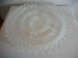 Vintage 1940s Waterford Clear 6 part relish dish platter ANCHOR HOCKING - $29.69