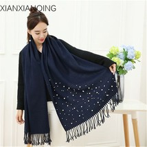 Winter Women Warm Scarf Solid Cashmere Scarves Pearl Cape Shawls Women's... - $19.99
