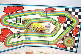Transogram Rare Four Lane Road Racing Game on the Famous Sebring Track 1963  image 9