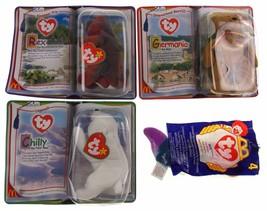 McDonalds Toys TY Beanie Baby Bear Germania Rex Chilly Inch Lot 4 Intern... - $5.49