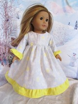 """homemade 18"""" american girl/madame alexander yellow moon nightgown doll clothes - $19.60"""