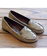 Cole Haan Size 6.5 B AIR Brown Patent Leather Moc Toe Penny Loafers Shoe... - $37.99