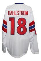 Custom Name # Team Norway Retro Hockey Jersey New White Any Size image 2