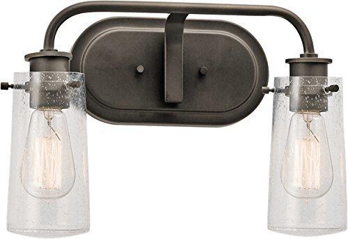 Shop Kichler Lighting 4 Light Bayley Olde Bronze Bathroom: Kichler 45458OZ Braelyn Bath 2-Light, Olde Bronze