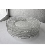 "Set of 6 Princess House Fantasia Pattern 6"" Bread Plates Frosted Base - £23.48 GBP"