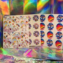 3 Complete Lisa Frank Sticker Sheets Markie The Unicorn S105 S252 S113 RARE LOT image 6