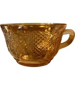 Normandie Bouquet and Lattice, Federal Glass, Iridescent Cup carnival depression - $9.99