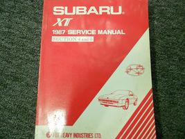 1987 Subaru XT Service Reparatur Shop Manuell Set Fabrik OEM Bücher 87 image 4