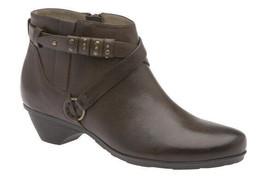 Abeo Nancy  Brown Booties Size US 6.5 Neutral  Footbed (    )5141 - $80.00