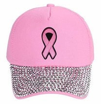 Pink Ribbon Hat - Women's Adjustable Cap - Breast Cancer Awareness (Pink... - $18.95