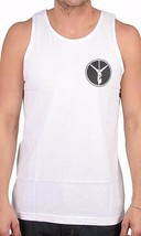 Deadline Mens  White Neon Lights Stripper Pole Fuc* Peace Sign Tank Top Shirt NW