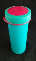Vintage Tupperware Travel Cup #2355 2356 Blue Pink Mug Glass Lid 10 oz - $8.25