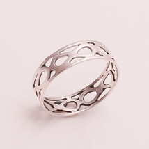 """INCREDIBLE 100% NATURAL INSIDE FASHION WORK 925 STERLING SILVER RING """"6.7"""" - £6.45 GBP"""