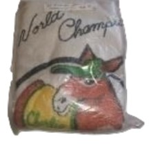 Charlie O donkey on a Oakland World Champions hand towel in package  - $100.00
