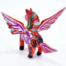 Handmade Alebrijes Oaxacan Wood Carved Folk Art Mini Pegasus Horse Figurine image 3