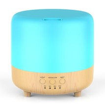 Leknes 500ml Essential Oil Diffuser,Running 10+ Hours Wood Grain Aromath... - €17,95 EUR
