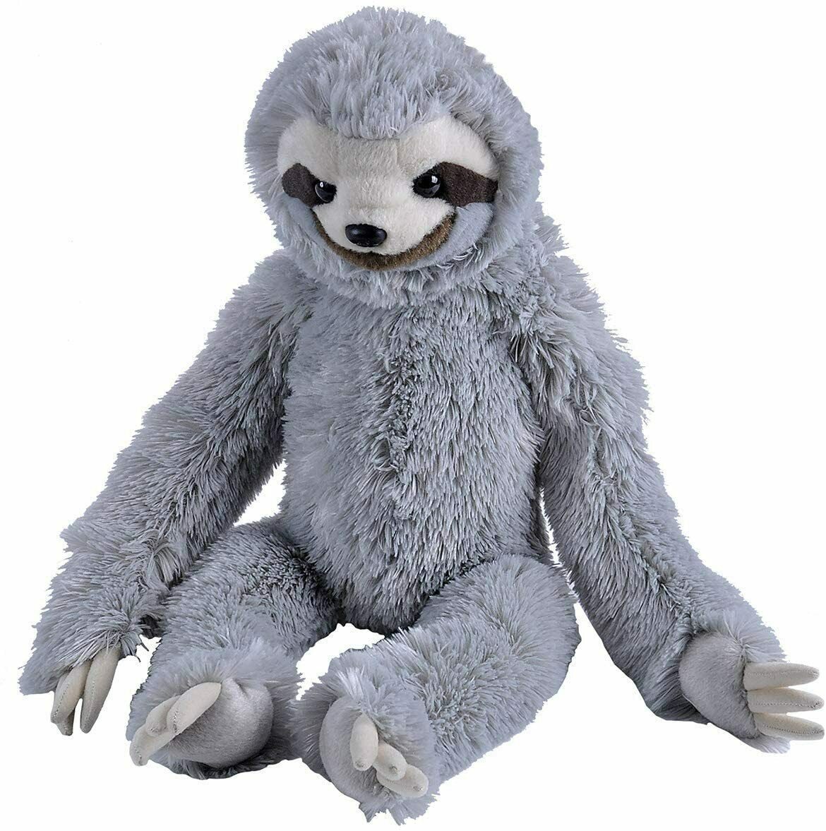 "Primary image for Three-toed Sloth Stuffed Animal Plush Doll Toy Wild Republic 13"" H Grey"