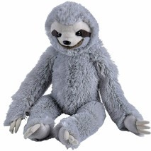 "Three-toed Sloth Stuffed Animal Plush Doll Toy Wild Republic 13"" H Grey - $25.74"