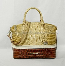 NWT Brahmin Duxbury Leather Satchel/Shoulder Bag in Honeycomb Leroy - $299.00