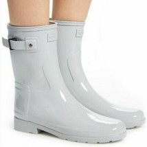 New In Box HUNTER Refined Short Gloss Symbol Waterproof Rain Boots Size 6M 6 - $89.99