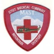 US Army 571st Aviation Medical Company Air Ambulance Military Patch Dustoff - $11.87