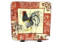 """Certified International Tuscan Rooster RED Replacement Salad Plate 8"""" - $12.70"""