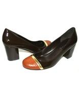 ❤️STEVEN Steve Madden Dramah Croco Cap-Toe Patent Leather Pump 10 M NEW!... - $37.23