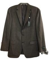 NEW LAUREN RALPH LAUREN Size 40 Long Men's Wool Tan/Black Houndstooth Bl... - $79.00