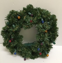 ❤BETHLEHEM LIGHTS MULTI COLOR CHRISTMAS HOLIDAY DOOR DECORATION WREATH❤  - $16.50