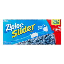 Ziploc Slider Storage Bags, Gallon, 68 Ct - $20.89