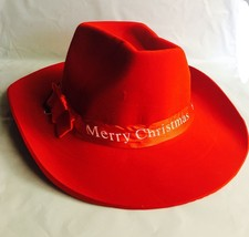 Adult Merry Christmas Cowboy RED Hat Party Accessory Holiday party Favor - €5,37 EUR