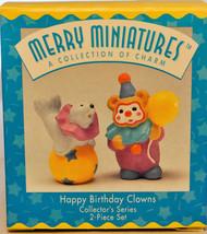 Hallmark - Happy Birthday Clowns - Series 2nd - Set of 2 - Merry Miniature - $12.86