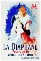 POSTER.Stylish Graphics.La Diaphane.Sarah Bernhardt Art Nouveau Decoration.09vp - $10.89+