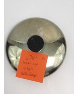 """Revere Ware Replacement Lid Stainless Black Round Handle 6 7/8"""" Inner Lip A - $19.59"""