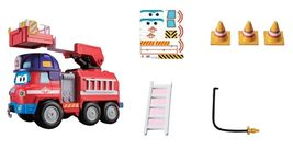 Super Wings Sparky Rocky Rescue Headquarters Set Fire Engine Vehicle Truck Toy image 4