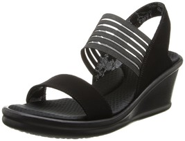 Skechers Cali Women's Rumblers-Sci-Fi Wedge Sandal, Black - $63.00
