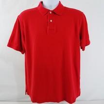 IZOD Polo Mens Size Large Short Sleeve Red Pima Cotton - $8.81