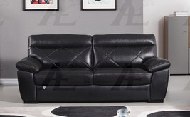 American Eagle EK081-BK Black Italian Leather Sofa - $1,313.00