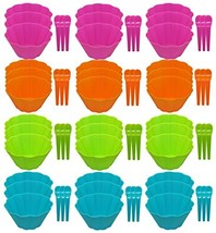 Set of 36 Ice Cream Bowl & 36 Spoons Sets! Matching Spoons - 72pc Set - ... - £23.95 GBP
