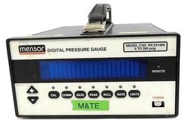 MENSOR 2102 DIGITAL PRESSURE GAUGE 0 TO 300 PSIG image 1