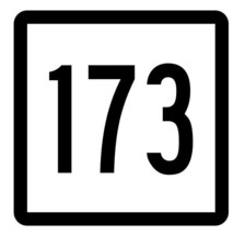 Connecticut State Highway 173 Sticker Decal R5183 Highway Route Sign - $1.45+