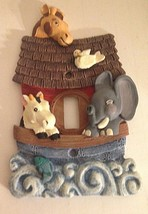 "Kids Room Light Switch Plate Noah's Ark Baby Children Nursery 5"" - $7.80"